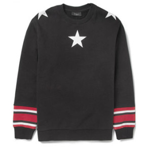 GIVENCHY // STAR-PRINT COTTON SWEATSHIRT