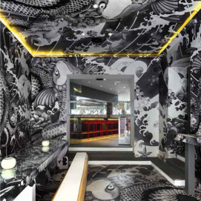 JAPANESE RESTAURANT IN FRANCE // DECORATED WITH YAKUZA TATTO MOTIF