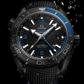 "OMEGA GIVE THE SEAMASTER  PLANET OCEAN A ""DEEP BLACK"""