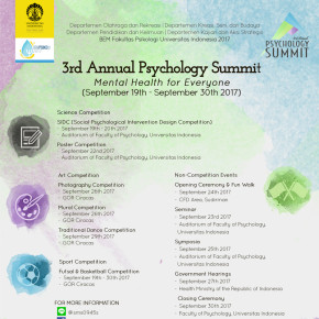 3RD ANNUAL PSYCHOLOGY SUMMIT // MENTAL HEALTH FOR EVERYONE