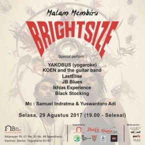 LIVE MUSIC & ART CHARITY MENJELANG KEBERANGKATAN BRIGHTSIZE TRIO TOUR KE EROPA