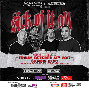 SICK OF IT ALL // ASIAN TOUR 2017