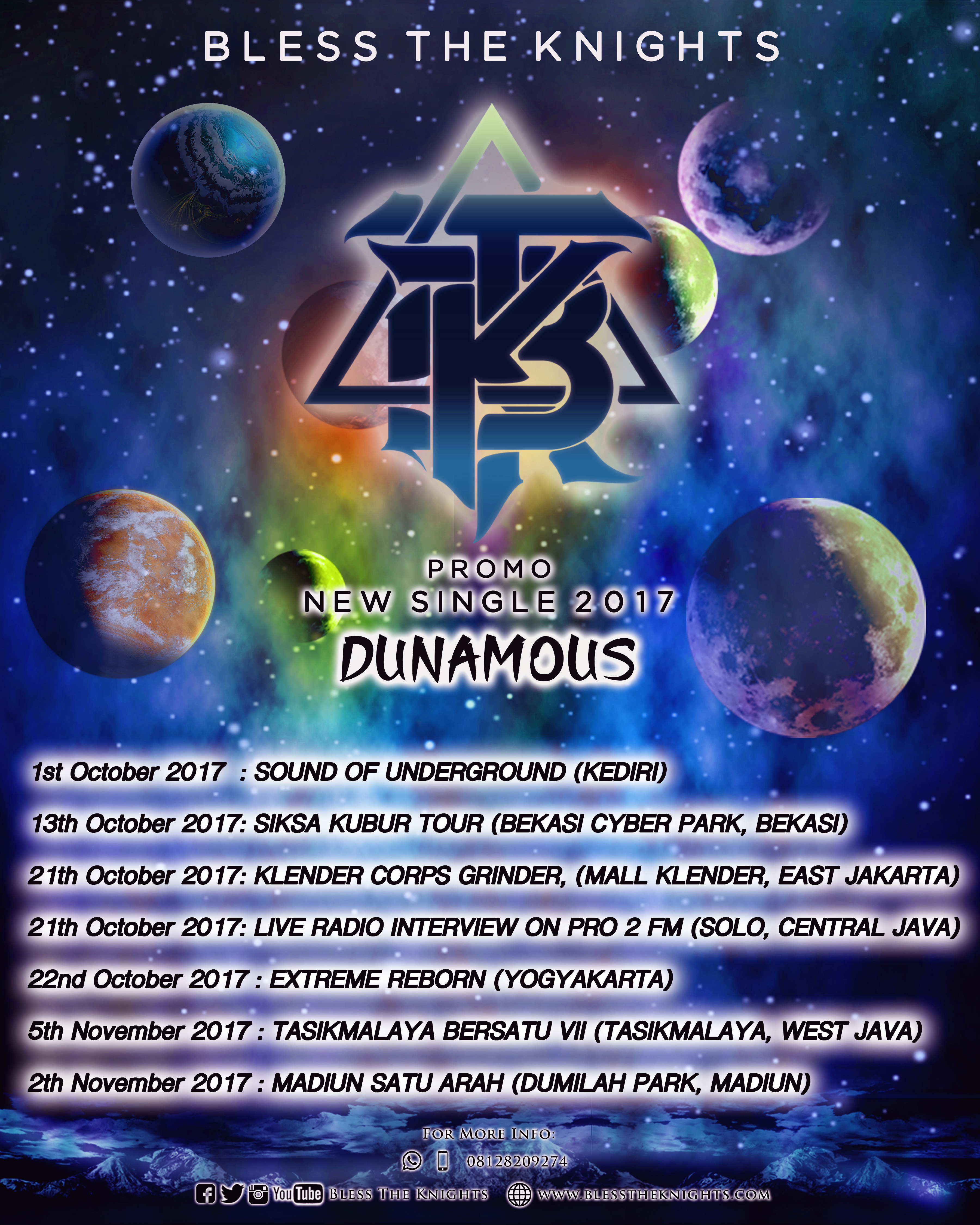 Dunamous (Single) Promo Schedule
