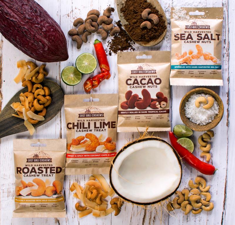 Dibuat dari 100% bahan alami, snack East Bali Cashews aman dikonsumsi jangka panjang