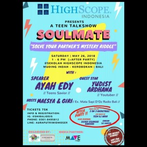 "TEENAGE TALKSHOW  ""SOULMATE - Solve Your Partner's Mystery Rider"""