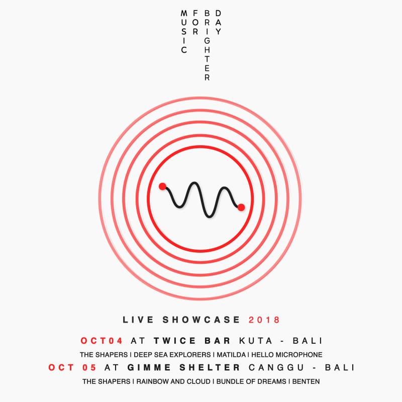 e-Flyer Music for Brighter Day Live Showcase 2018