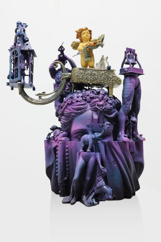 Hendra _Blankon_ Priyadhani_Self Ego Alarm_Mixed media assemblage, fiber, resin, vynil toys, alumunium_60 x 155 x 20 cm_2018