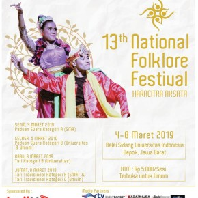 "BEM FEB UI // FESTIVAL ""THE 13TH NATIONAL FOLKLORE FESTIVAL"""
