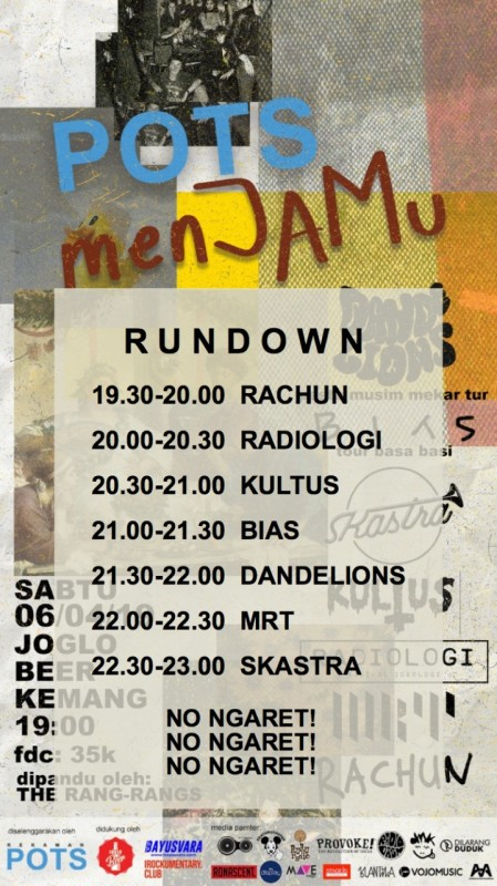 Poster POTSJAM Rundown (IG Feed)