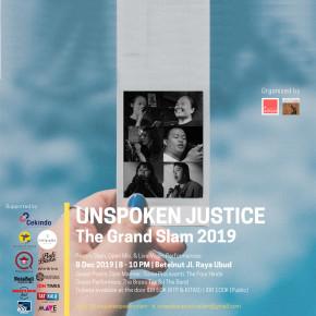 THE GRAND SLAM 2019: UNSPOKEN JUSTICE SIAP DIGELAR