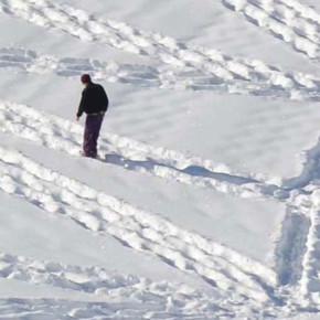 SIMON BECK // WALKS FOR SNOW ART